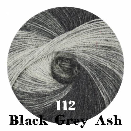 starwool lace color 112 black grey ash