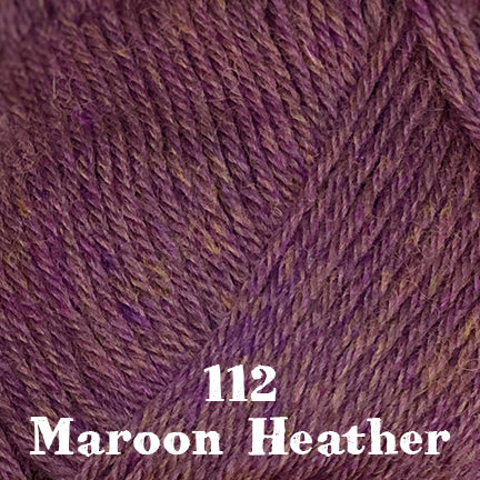classic wool heathers 112 maroon heather