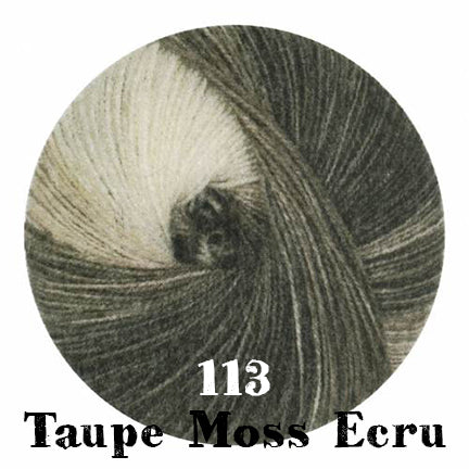 starwool lace color 113 taupe moss ecru