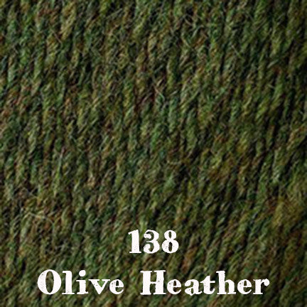 classic wool heathers 138 olive heather