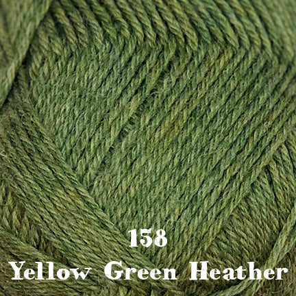 classic wool heathers 158 yellow green heather