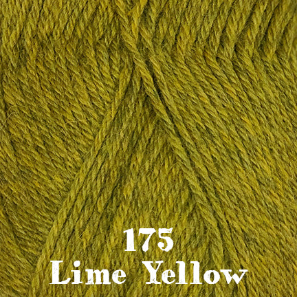 classic wool heathers 175 lime yellow