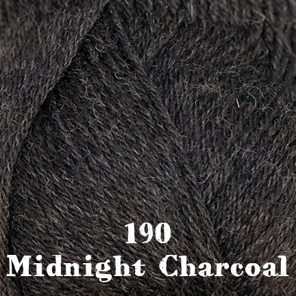 classic wool heathers 190 midnight charcoal