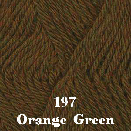 classic wool heathers 197 orange green