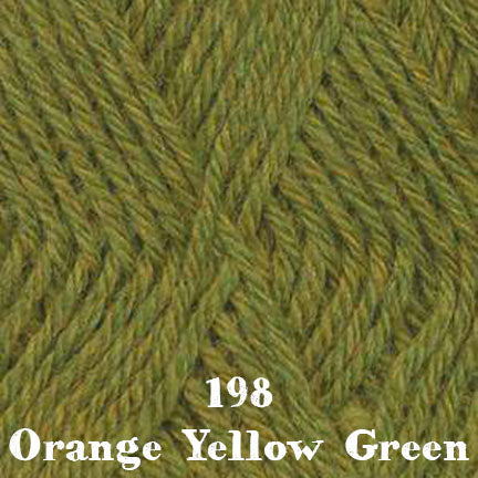 classic wool heathers 198 orange yellow green