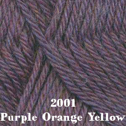 classic wool heathers 2001 purple orange yellow