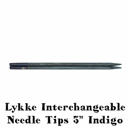 lykke interchangeable needle tips 5-inch indigo