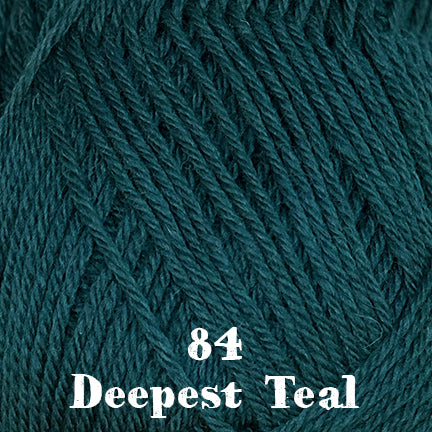 classic wool solids 84 deepest teal