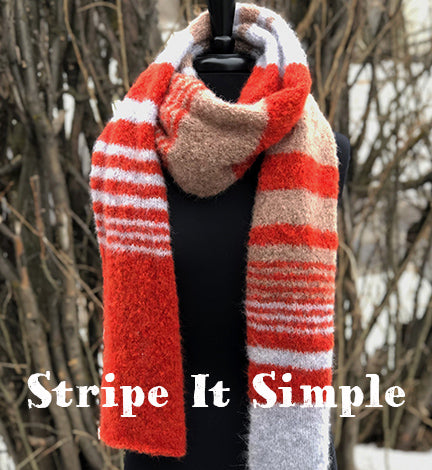 Stripe It Simple Scarf Kit