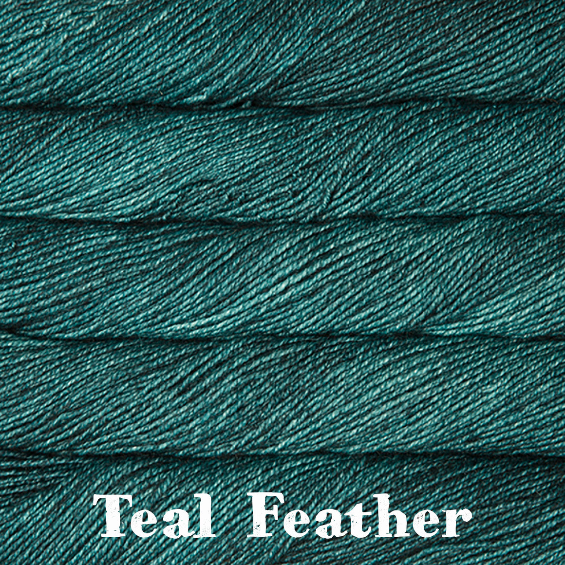 dos tierras teal feather