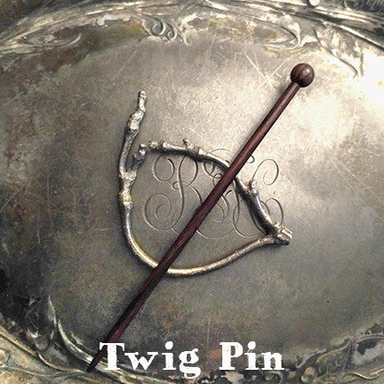 Twig Lace Pin