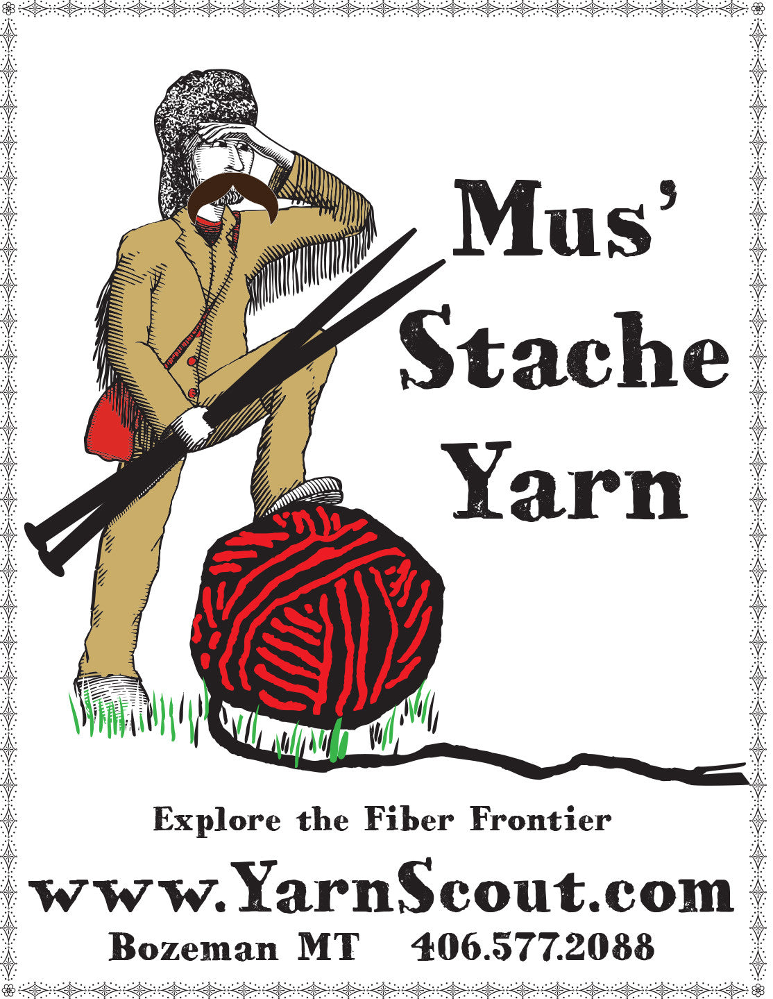 YarnScout Mus'Stache Sticker
