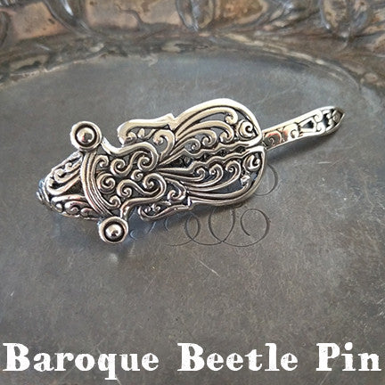 Baroque Beetle Pin