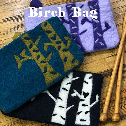 Frabjous fibers felt birch bag main