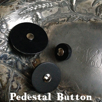 Pedestal Leather Button, small