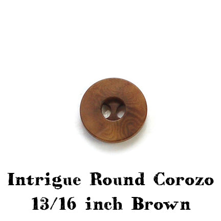 brown intrigue round corozo button