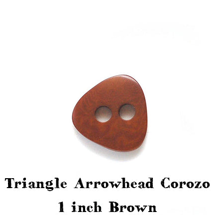 brown triangle arrowhead corozo button