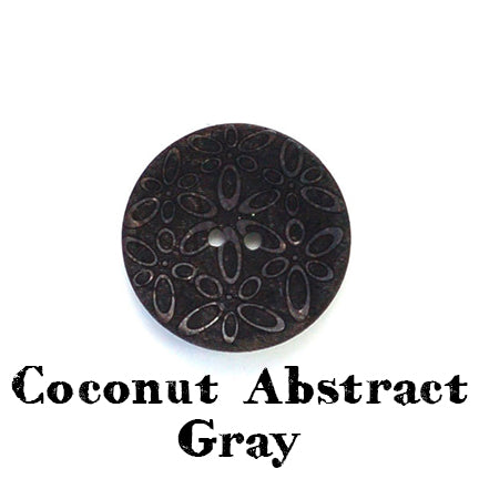 coconut abstract button gray