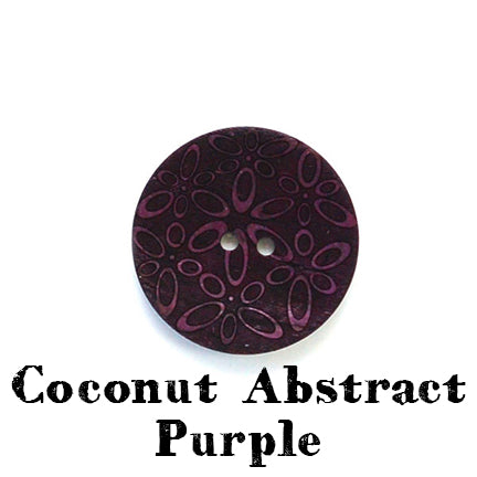 coconut abstract button purple