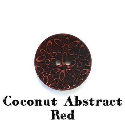 coconut abstract button red