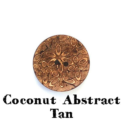 coconut abstract button tan