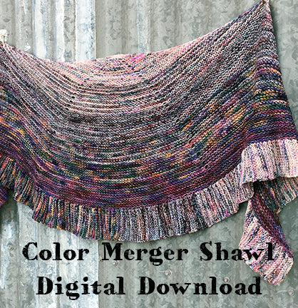 Color Merger Shawl Pattern