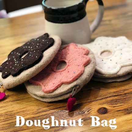 Frabjous fibers felt doughnut bag main