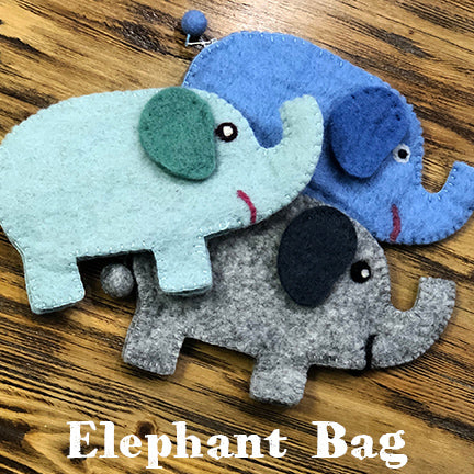 Frabjous fibers felt elephant bag main