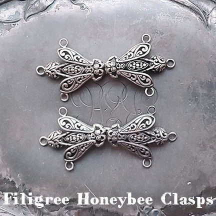 jul designs filigree honeybee clasps