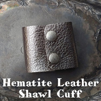 jul hematite leather shawl cuff