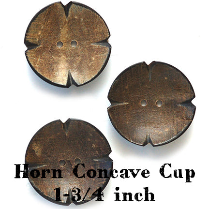 horn concave cup button 1-3/4 inches