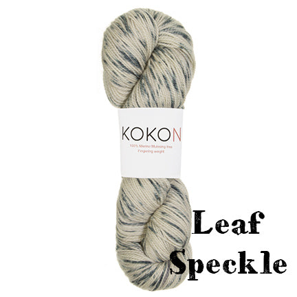 kokon fingering leaf speckle