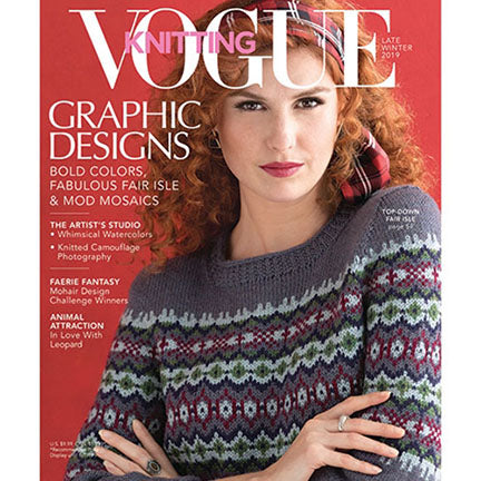 Vogue knitting magazine late winter 2019