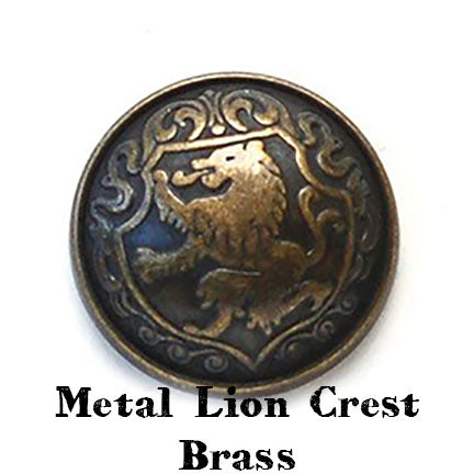 metal lion crest brass