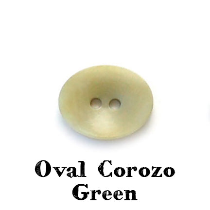 oval corozo button green