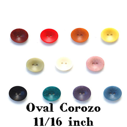 oval corozo button 11/16 inch main