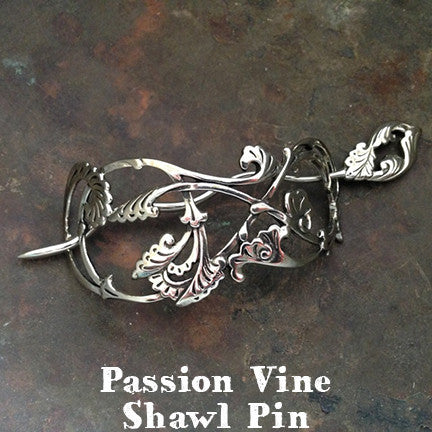 Passion Flower Vine Pin