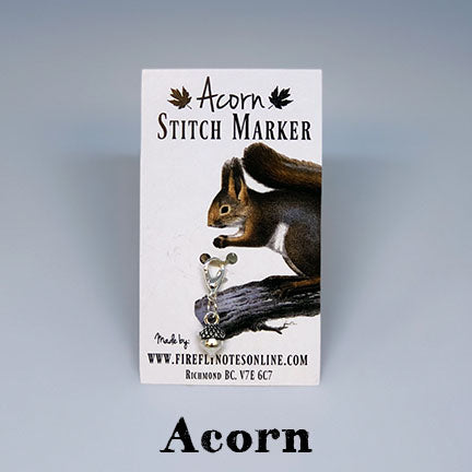 acorn removable stitch marker