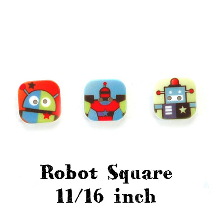 robot square button 11/16 inch main