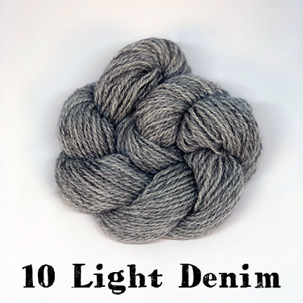 shetland fingering 10 light denim