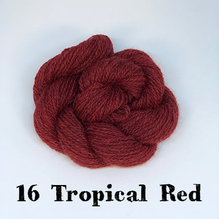 shetland fingering 16 tropical red