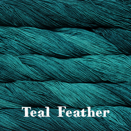 sock teal feather