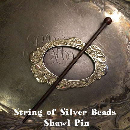 string of silver beads