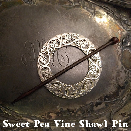 jul sweet pea vine shawl pin