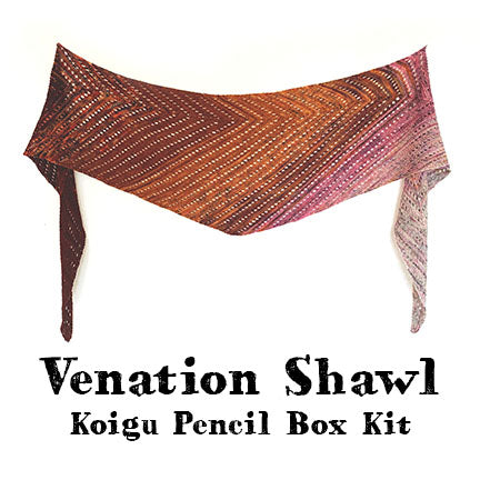 venation shawl pencil box kit