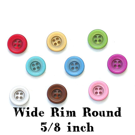 wide rim round button 5/8 inch main
