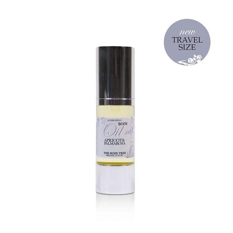 www.therosetree.co.uk Body Care Energising Body Oil with Apricot & Palmarosa, Travel Size
