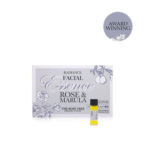 www.therosetree.co.uk Skin Care Radiance Facial Essence with Rose & Marula - Try Me Size