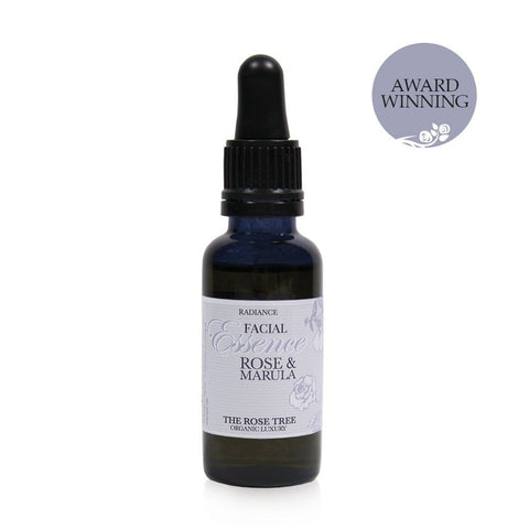 www.therosetree.co.uk Skin Care Radiance Facial Essence with Rose & Marula