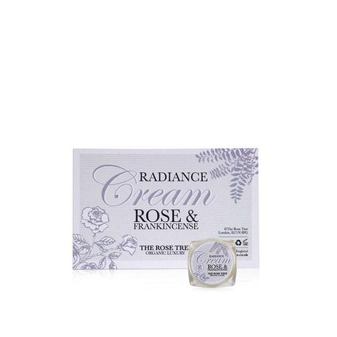 www.therosetree.co.uk Skin Care Radiance Cream with Rose & Frankincense - Try Me Size